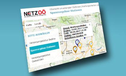Aktuelle Störungsinformationen Online Abrufen Netz Oberösterreich Gmbh